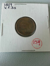 1859 Indian Head Cent USA Coin Currency VF30 1 Cent