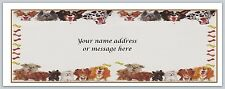 30 Personalized Return Address Labels Dogs Buy 3 get 1 free (bo667)