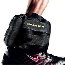 Gold's Gym Adjustable Ankle Weights PAIR 20 Lb Wrist Arm Leg Running Exercises