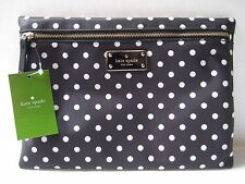 NWT~KATE SPADE Large Drewe BLAKE AVENUE DIAMOND DOT Clutch Purse Makeup Bag~NEW!