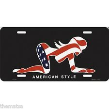 MUDFLAP GIRL AMERICAN STYLE METAL LICENSE PLATE MADE IN USA