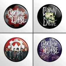 "4-Piece CROWN THE EMPIRE  1"" Pinback Band Buttons / Pins / Badges Set"
