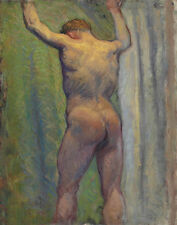 Russell Peter John Standing Male Nude Print 11 x 14   #4759
