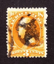 US O3 3c Agriculture Department Used w/ Star in Circle Fancy Cancel (001)