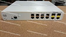 Cisco WS-C2960C-8TC-L Interruptor 8 fe, 2 x enlace ascendente de doble propósito, Lan Base 2960C-8TC-L