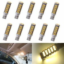 10X W5W T10/921/194 RV Camper Trailer LED Light 68 SMD Interior Bulbs Warm White