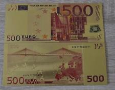 500 euro banknote dinero ficticio en oro con color de color oro rara vez ficticio nuevo