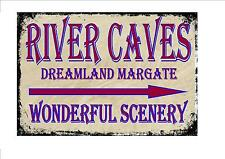 Dreamland Margate Vintage Style Sign  Fairground Ride  River Caves Sign