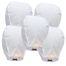 50 White Paper Chinese Sky Floating Lanterns Wishing Flying Candle Lamps