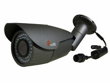 Full 1080P HD 3MP IP Bracket Cctv Camera Varifocal 2.8-12mm 42 Led`s Poe Grey