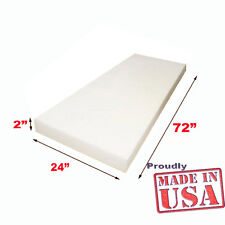 """2""""x 24""""x 72"""" High Density Foam Cushion Replacement Upholstery Sold per Sheet"""
