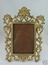 ANTIQUE PICTURE FRAME BRASS OR METAL ALLOY ORNATE VICTORIAN STYLE
