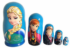 5 RUSSIAN /MATRYOSHKA DOLLS/FROZEN/GREAT PRESENT FOR GIRLS/11.0cm/4.5''