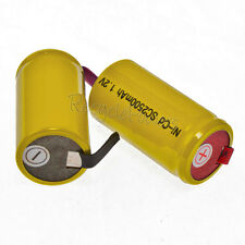 16 Yellow NiCd SubC Sub C 2500mAh Rechargeable Battery Tab
