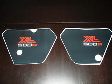 1981 Honda XL 500 Side Plate Decal Kit European model AHRMA XR XL Honda