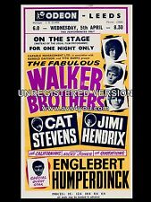 "Walker Brothers / Jimi Hendrix Leeds Odeon 16"" x 12"" Photo Repro Concert Poster"