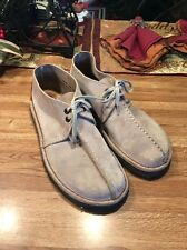 Clarks Brown Suede Crepe Sole Desert Trek Low Ankle Shoes Men's Sz 8