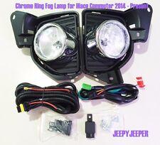 Chrome Ring Fog Lamp Spot light For TOYOTA HIACE H200 Commuter 2014 2015 2016 ON
