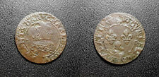 Charleville - Charles II Gonzague - Double tournois type 22 1635 fautée -CGKL630