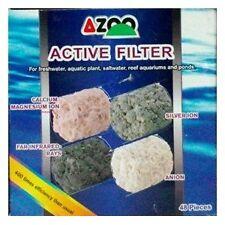 AZOO Active Filter Media   4 in 1   48pcs   Aquarium Filter Media
