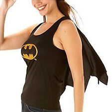 Batgirl Costume Womens Fancy Dress Batman Top & Cape Size 12-14