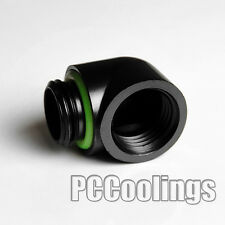 PC Water Liquid Cooling 90 Degree Angle Fitting Adapter G1/4 Thread Matt Black