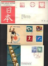 JAPAN 1920-70's COLLECTION OF 10 COVERS & CARDS COMMERCIAL & FDCs