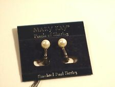 Mary Kay Classic Pearls of Sharing Clip Earrings
