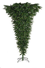 7.5' Wildwood Upside Down Artificial Christmas Tree with Clear LED Lights