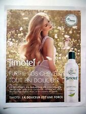 PUBLICITE-ADVERTISING :  TIMOTEI Pure  2015 Coiffure,Shampoing