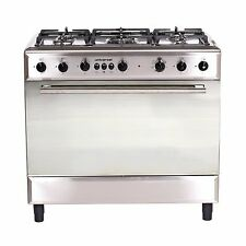 Universal 90cm Dual Fuel Cooker, Stainless Steel Model Diamond Series 9605