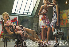 Publicité 2008 (double page)  DOLCE & GABBANA collection vetement sac à main