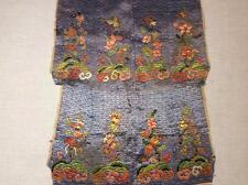 2 ANTIQUE 19th c QI'ING CHINESE EMBROIDERED PANELS FINE STITCHING EMBROIDERY!