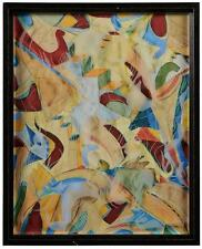 LARGE ORIGINAL ABSTRACT GEORGE HANDY PAINTING