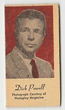 American US Engrav-O-Tints Weighing Weight Machine Card US Singer Dick Powell
