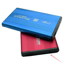 Red Aluminum Portable HDD Mobile Hard Disk USB2.0 External Hard Drive Box Case
