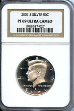 2001 S Kennedy Half  NGC PF69 Ultra Cameo 50 Cent Silver Proof Graded Coin C3