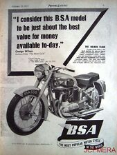 1953 Motor Cycle ADVERT - B.S.A. '650cc Golden Flash' (£178 + P.Tax) Print AD