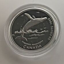 Canada 1998 Humpback  Whale Ocean Giants 50 Cents Proof  Sterling  Silver