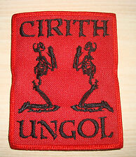CIRITH UNGOL - LOGO Embroidered PATCH Manilla Road Brocas Helm Manowar