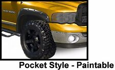 94-02 Dodge Ram 1500 Pocket Fender Flares Matte Flat Black OE Style Paintable