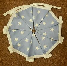 Handmade Baby Boy Blue Star Nursery Double Sided Bunting FREE P+P