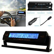 Car Multifunction Temperature Voltage Clock Digital LCD Thermometer Meter Alarm