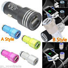 Dual USB 2 Port Car Charger Adapter LED Light For iPhone iPad for Samsung HTC LG