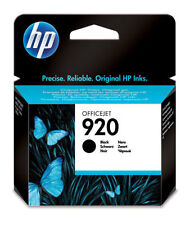 GENUINE HP HEWLETT PACKARD HP 920 BLACK INK CARTRIDGE (CD971AE)