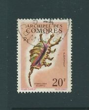 FRANCE COMORO ISLANDS 1962 SHELLS 20F USED NICE STAMP!
