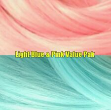 Pink & Light Blue XL 4oz 2 Color Value Pack Nylon Doll Hair Hanks for Rerooting
