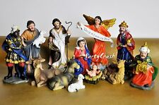 Christmas Nativity Set Scene Figures Polyresin Baby Jesus 13Piece Set Nacimiento