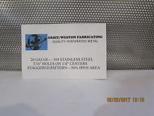 """3/16"""" HOLES--20 GAUGE-304 STAINLESS STEEL PERFORATED SHEET 12"""" X 24"""""""