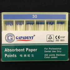 10Pak GAPADEN 02 Size 30# Root canal Absorbent Paper Points professional PII